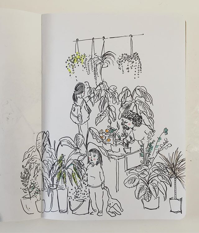 Happy Chinese New Year! Inspired by my trip to @petershamnurseries 🍊🌿🌱 . . . . . . . #cheekypeople #hongkongart #illustrationartists #sketchbookproject #sketch #drawing #illustration #instaart #london #richmond #people #plant #houseplantclub #hkig #londonart #quicksketch #urbansketchers #usk