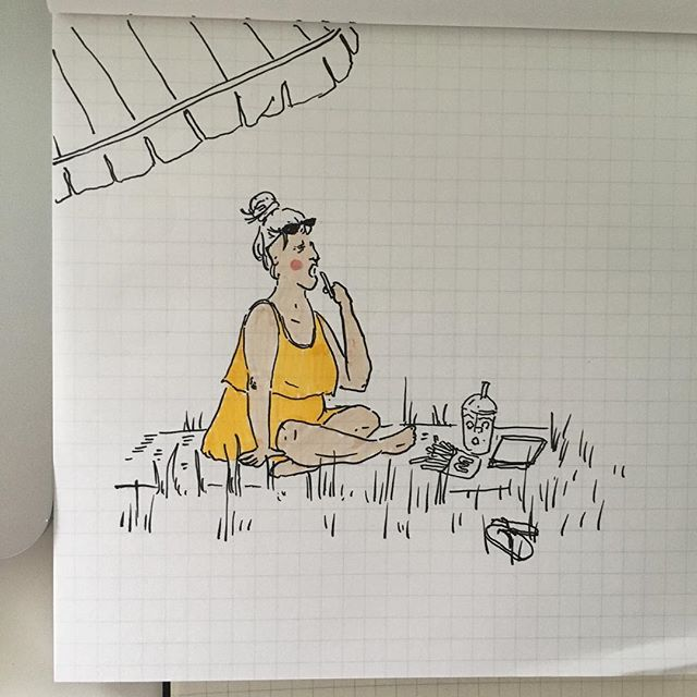 Idyllic 🌞 missing the warm weather already.. 🌸🌸 . . . . . . . #cheekypeople #art #drawingpeople #illustrator #illustration #quickstudy #quicksketch #sketchbook #usk #urbansketchers #portrait #artistsoninstagram #sketch_dailydose #art_empire #hkig #hongkongartist #kunst #wip #workinprogress #brushpen #tombow #lifesketch #lifedrawing #繪畫 #sundayfunday #weekendvibes #londonist #sketch_onn #summervibes