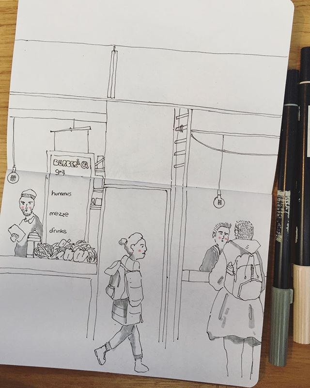 Old Spitalfields Market - delicious food and the perfect place to sketch. ✍🏻✍🏻✍🏻 . . . . . . . . . . #cheekypeople #art #drawingpeople #illustrator #quickstudy #quicksketch #sketchbook #sketchbookproject #usk #urbansketchers #portrait #artistsoninstagram #sketch_dailydose #art_empire #hkig #hongkongartist #kunst #wip #workinprogress #sbpprocess #brushpen #tombow #lifesketch #art_overnight #lifedrawing