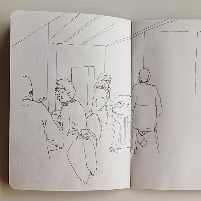What better to do than sit in a cafe and draw on a snow day ✨❄️✍🏻. . . . . . . . #cheekypeople #art #drawingpeople #illustrator #quickstudy #quicksketch #sketchbook #sketchbookproject #usk #urbansketchers #portrait #artistsoninstagram #sketch_dailydose #art_empire #hkig #hongkongartist #kunst #wip #workinprogress #sbpprocess #brushpen #tombow